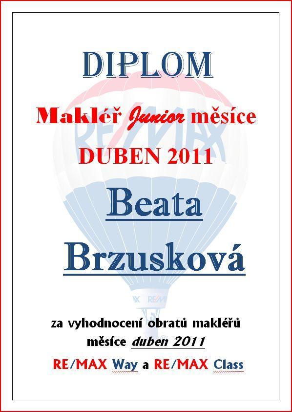 Certifikát Brzusková