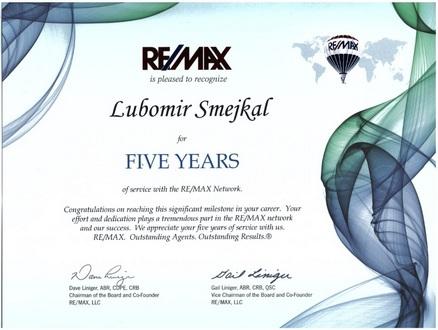 Certifikat 5 let